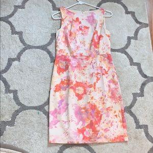 Ann Taylor floral dress size 2 pastel colors